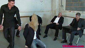 Gay English gangsters fuck and cum