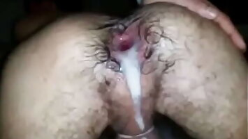 3 GUYS FLOOD MY ASS CUNT WITH TONS OF CUM