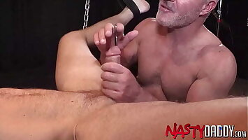 NASTYDADDY Dale Savage Fists Hairy Jock And Blows His Cock
