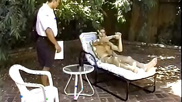 Overstuffed musclehead postman Anthony Gallo needs to get an acknowledgement here the place of delivery from guy taking the sun naked