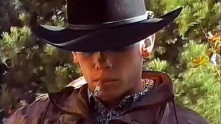 Nasty leatherboy Kurt Stromm invites experienced cowboy Tyler Douglas to take on some backs